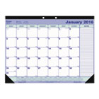 Monthly Desk Pad Calendar, Chipboard, 12-Month, 21-1/4 x 16, 2016 REDC181731