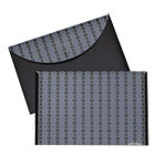 Circle Pattern Expanding File, Letter, 1-Pocket, Reusable Envelope, Black/Gray CLI56612