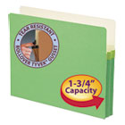 "1 3/4"" Exp Colored File Pocket, Straight Tab, Letter, Green SMD73216"