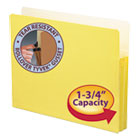 "1 3/4"" Exp Colored File Pocket, Straight Tab, Letter, Yellow SMD73223"