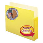 "5 1/4"" Exp Colored File Pocket, Straight Tab, Letter, Yellow SMD73243"