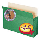 "3 1/2"" Exp Colored File Pocket, Straight Tab, Legal, Green SMD74226"