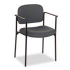 VL616 Series Stacking Guest Chair with Arms, Charcoal Fabric BSXVL616VA19