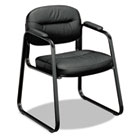 VL653 Series Guest Side Chair, Black Leather/Black Frame BSXVL653ST11