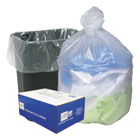 High Density Can Liners, 16gal, .315mil, 24 x 33, Natural, 200/Carton WBIWHD2431