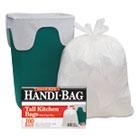 Super Value Pack Trash Bags, 13gal, .6mil, 23 3/4 x 28, White, 100/Box WBIHAB6FK100