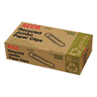 Recycled Paper Clips, Jumbo, 100/Box, 10 Boxes/Pack ACC72525