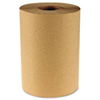 Boardwalk Industrial Roll Paper Towels, 1 Ply, 8 in x 350 ft, Brown, 350 ft/rl, 12 rl/ct BWK6252
