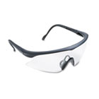 Nassau Vibrance Wraparound Safety Glasses, Black Plastic Frame, Clear Lens MMM160500000020