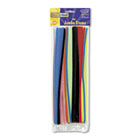 "Jumbo Stems, 12"" x 6mm, Metal Wire, Polyester, Assorted, 100/Pack CKC711001"