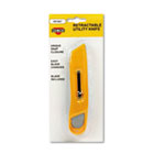 Plastic Utility Knife w/Retractable Blade & Snap Closure, Yellow COS091467