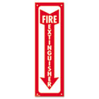 Glow-In-The-Dark Safety Sign, Fire Extinguisher, 4 x 13, Red COS098063