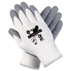 Ultra Tech Foam Seamless Nylon Knit Gloves, Medium, White/Gray, Pair CRW9674M