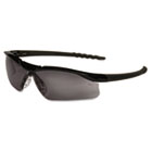 Dallas Wraparound Safety Glasses, Black Frame, Gray Lens CRWDL112