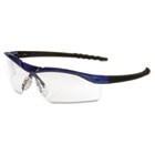 Dallas Wraparound Safety Glasses, Metallic Blue Frame, Clear AntiFog Lens CRWDL310AF