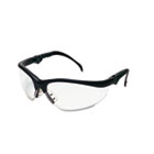 Klondike Plus Safety Glasses, Black Frame, Clear Lens CRWKD310