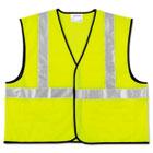 Class 2 Safety Vest, Fluorescent Lime w/Silver Stripe, Polyester, 2X CRWVCL2SLXL2