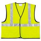 Class 2 Safety Vest, Fluorescent Lime w/Silver Stripe, Polyester, XL CRWVCL2SLXL