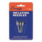 Nickel-Plated Inflating Needles for Electric Inflating Pump, 3/Pack CSIINB