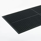 Safewalk-Light Drainage Safety Mat, Rubber, 36 x 60, Black CWNWSCT35BK