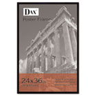 Flat Face Wood Poster Frame, Clear Plastic Window, 24 x 36, Black Border DAX286036X