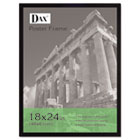 Flat Face Wood Poster Frame, Clear Plastic Window, 18 x 24, Black Border DAX2860W2X