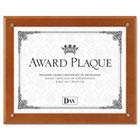 Plaque-In-An-Instant Kit w/Certificate/Mats, Wood/Acrylic, 10-1/2 x 13, Walnut DAXN100WT