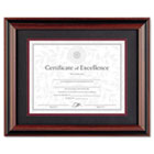 Desk/Wall Photo Frame, Wood, 11 x 14, Rosewood/Black DAXN15786ST