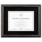 Document Frame, Desk/Wall, Wood, 11 x 14, Antique Charcoal Brushed Finish DAXN15790ST