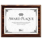 Award Plaque, Wood/Acrylic Frame, fits up to 8-1/2 x 11, Walnut DAXN15818T