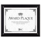 Award Plaque, Wood/Acrylic Frame, fits up to 8-1/2 x 11, Black DAXN15908NT