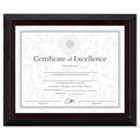 Solid Wood Award/Certificate Frame, 8 x 10, Black w/Walnut Trim DAXN19880BT