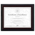 Solid Wood Award/Certificate Frame, 8-1/2 x 11, Black w/Walnut Trim DAXN19881BT
