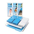 Three-Tier Document Organizer With Dividers, 13-3/8w x 3-1/2d x 11-1/2h, Clear DEF47631
