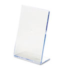 Slanted Desk Sign Holder, Plastic, 4 x 6, Clear DEF590401