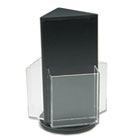 Countertop Revolving Literature Racks, Three Compartments, 7-1/2w x 10-3/4h, Blk DEF592704