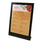 Superior Image Black Border Sign Holder, Plastic, 5 x 7, Black/Clear DEF69575