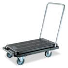Heavy-Duty Platform Cart, 500lb Capacity, 20 9/10w x 32 5/8d x 9h, Black DEFCRT550004