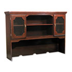 Governors Series Hutch For Kneespace Credenza, 60w x 13d x 46h, Mahogany DMI735047