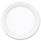 "Famous Service Impact Plastic Dinnerware, Plate, 10 1/4"" dia, White, 500/Carton DRC10PWF"