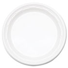 "Famous Service Plastic Dinnerware, Plate, 6"" dia, WE, 125/Pack, 8 Packs/Carton DRC6PWF"