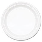"Famous Service Plastic Impact Dinnerware, Plate, 9"", White, 125/Pack DRC9PWFPK"