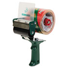 """Extra-Wide Packaging Tape Dispenser, 3"""" Core, Green DUC1064012"""