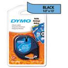 LetraTag Plastic Label Tape Cassette, 1/2in x 13ft, Ultra Blue DYM91335