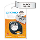 LetraTag Metallic Label Tape Cassette, 1/2in x13ft, Silver DYM91338