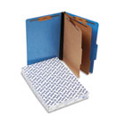Pressguard Classification Folders, Legal, 2 Dividers, Light Blue, 10/Box ESS2257LB