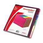 Top Tab File Guides, Alpha/A-Z 1/5 Tab, Polypropylene, Letter, 25/Set PFX40142