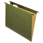 Poly Laminate Reinforced Hanging Folders, 1/5 Tab, Letter, Green, 20/Box PFX615215