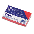 Unruled Index Cards, 3 x 5, Cherry, 100/Pack ESS7320CHE