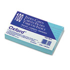 Ruled Index Cards, 3 x 5, Blue, 100/Pack ESS7321BLU